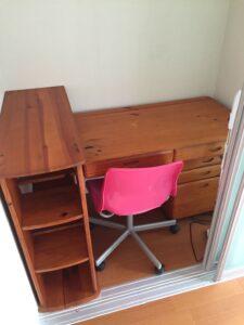 学習机、収納棚